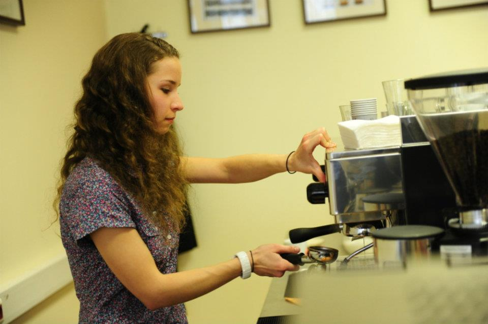 me back in the 2012 at my first barista training